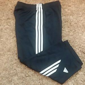 Adidas navy blue medium Capri pants rn 88387